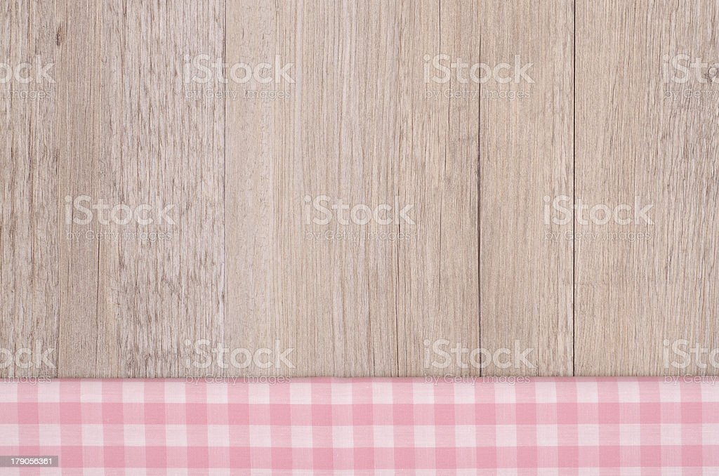 Pink and white checkered cloth royalty-free stock photo