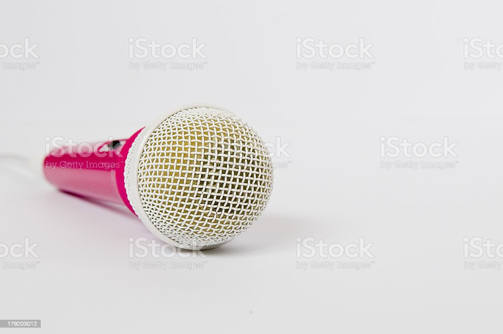Pink and White Microphone royalty-free stock photo