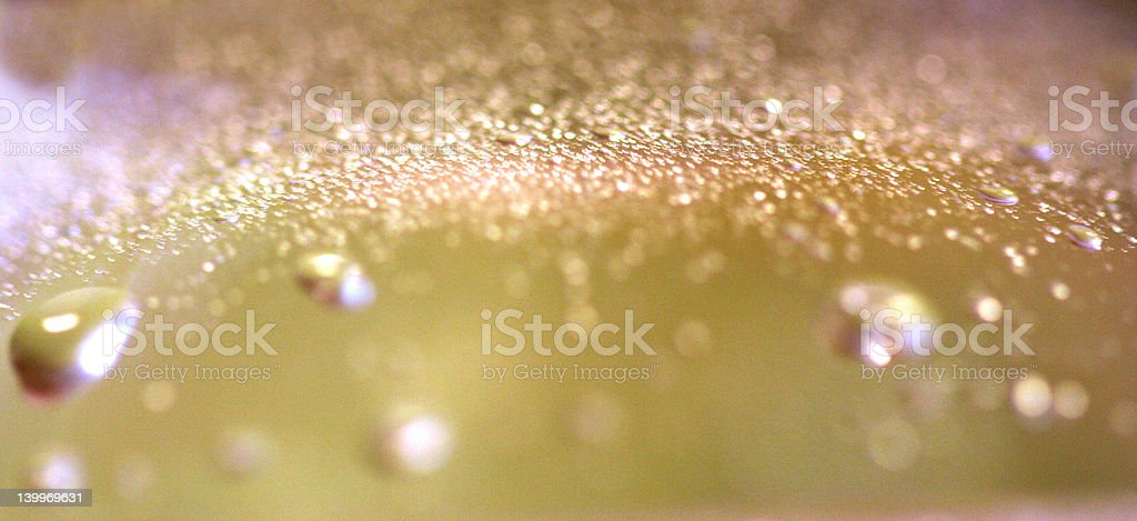 Pink and Yellow Bubbles royalty-free stock photo