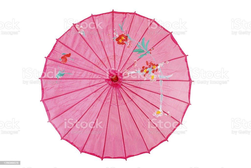Pink asian umbrella stock photo