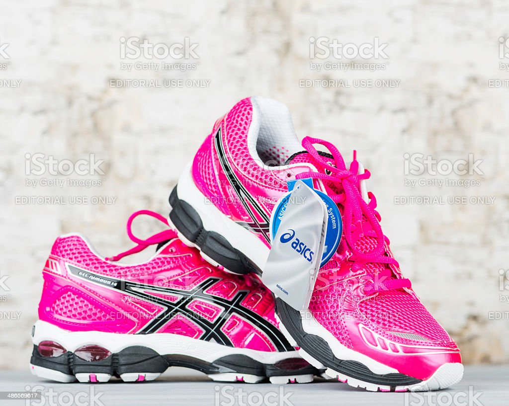 Pink Asics Tennis Shoes royalty-free stock photo