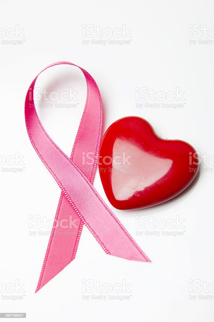 Pink awareness ribbon royalty-free stock photo