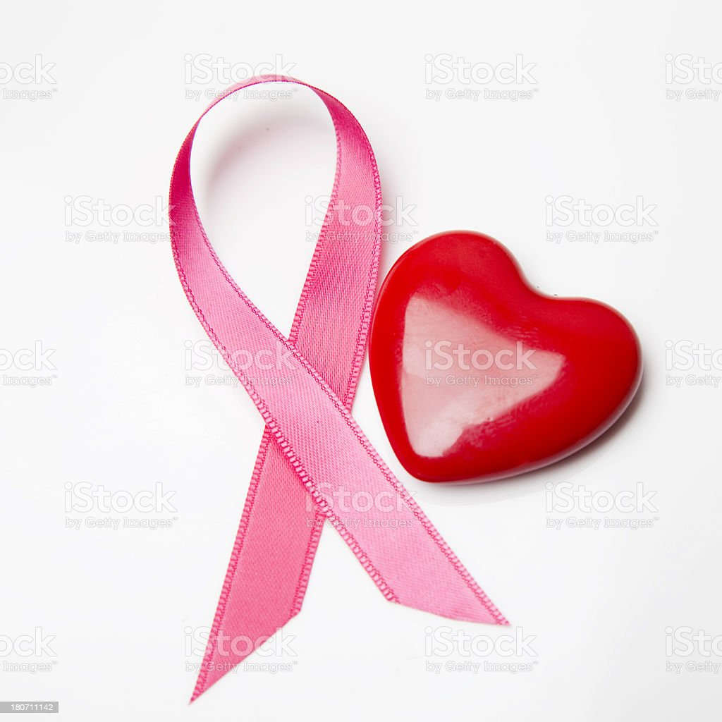 Pink awareness ribbon royalty-free stock photo