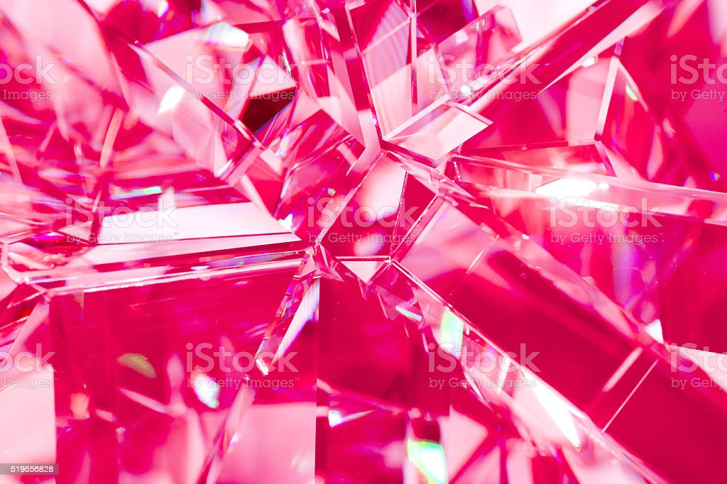 pink background of crystal refractions stock photo