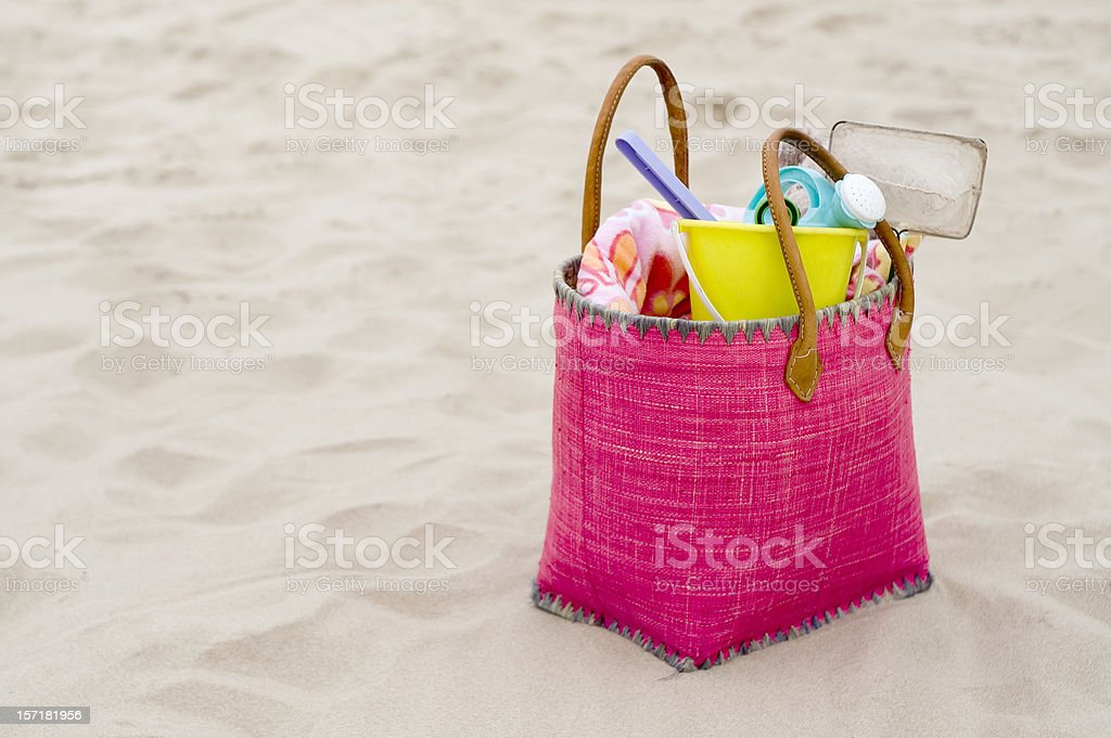 Pink bag royalty-free stock photo