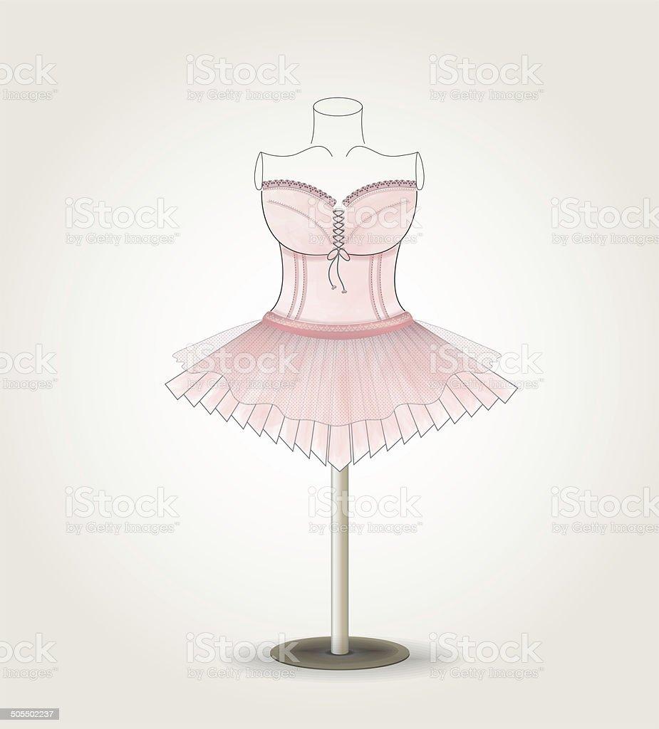 pink Ballet dress royalty-free stock photo