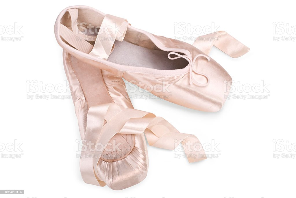 pink ballet slippers stock photo