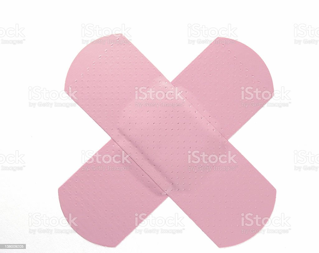 Pink Bandaid royalty-free stock photo
