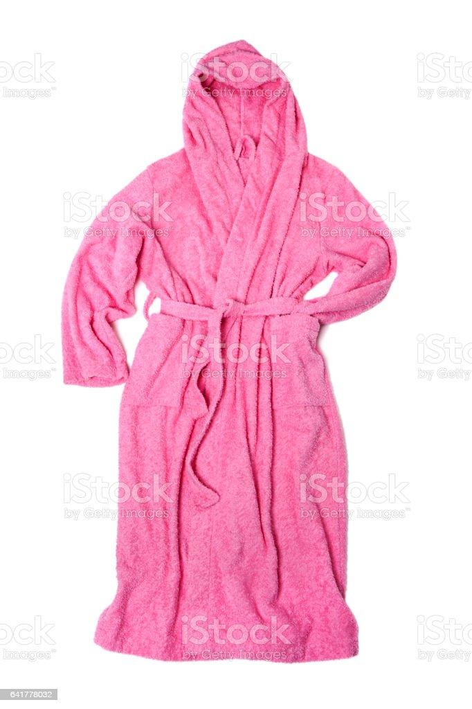 Pink bathrobe stock photo