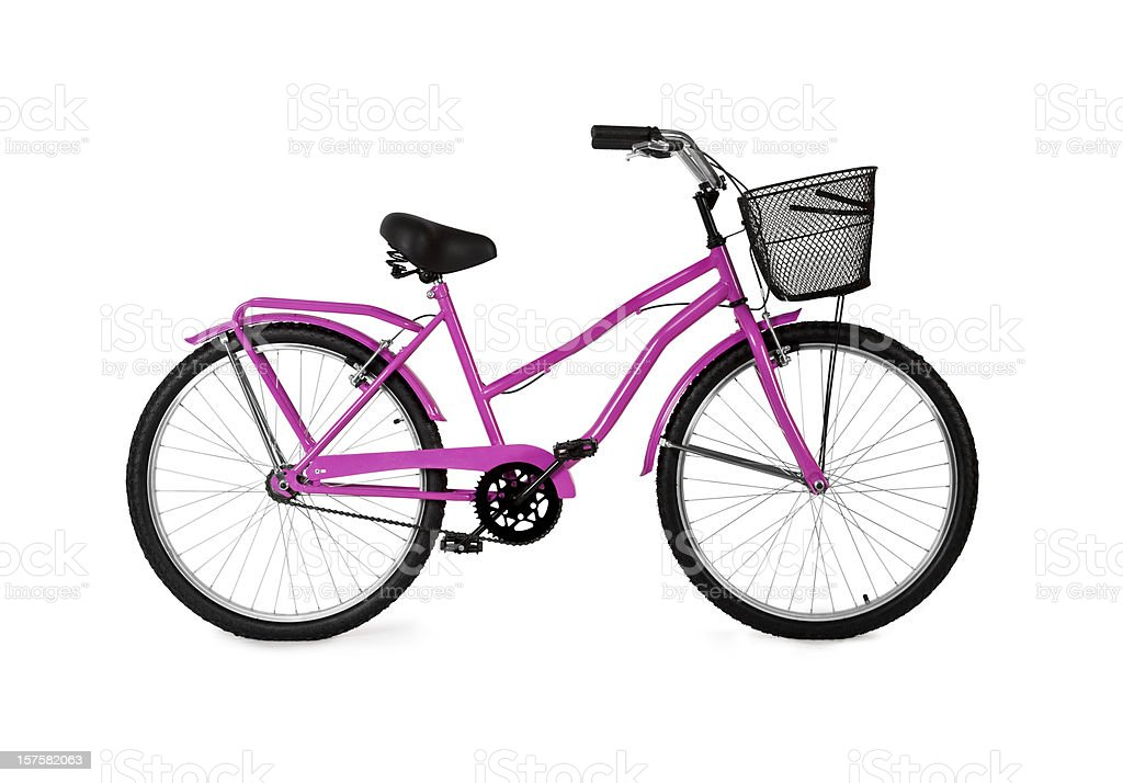 Pink Bicycle / Full Clipping path royalty-free stock photo