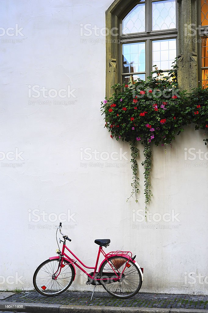 Pink bicycle royalty-free stock photo