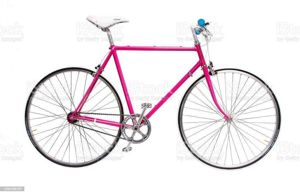 Pink Bicycle stock photo