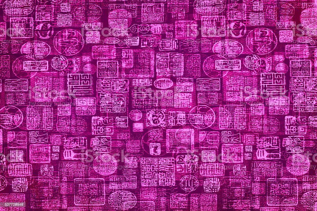 Pink & Black Hieroglyphic Background stock photo