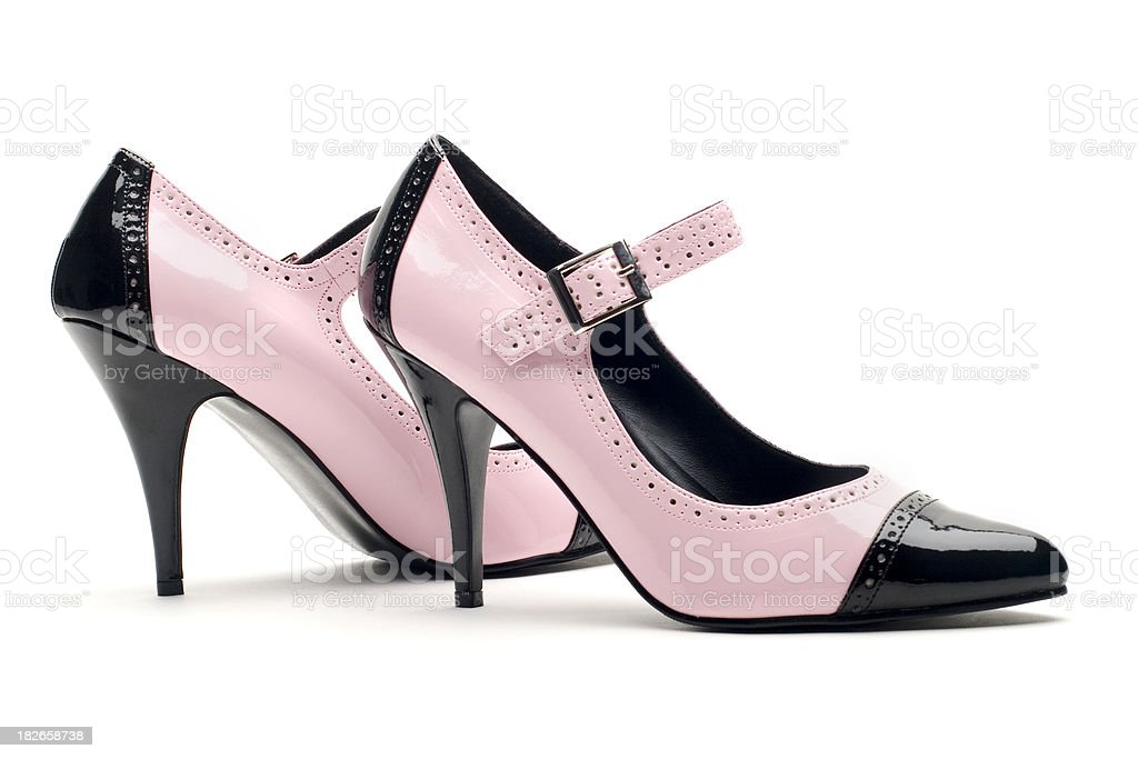 Pink & Black Pumps royalty-free stock photo