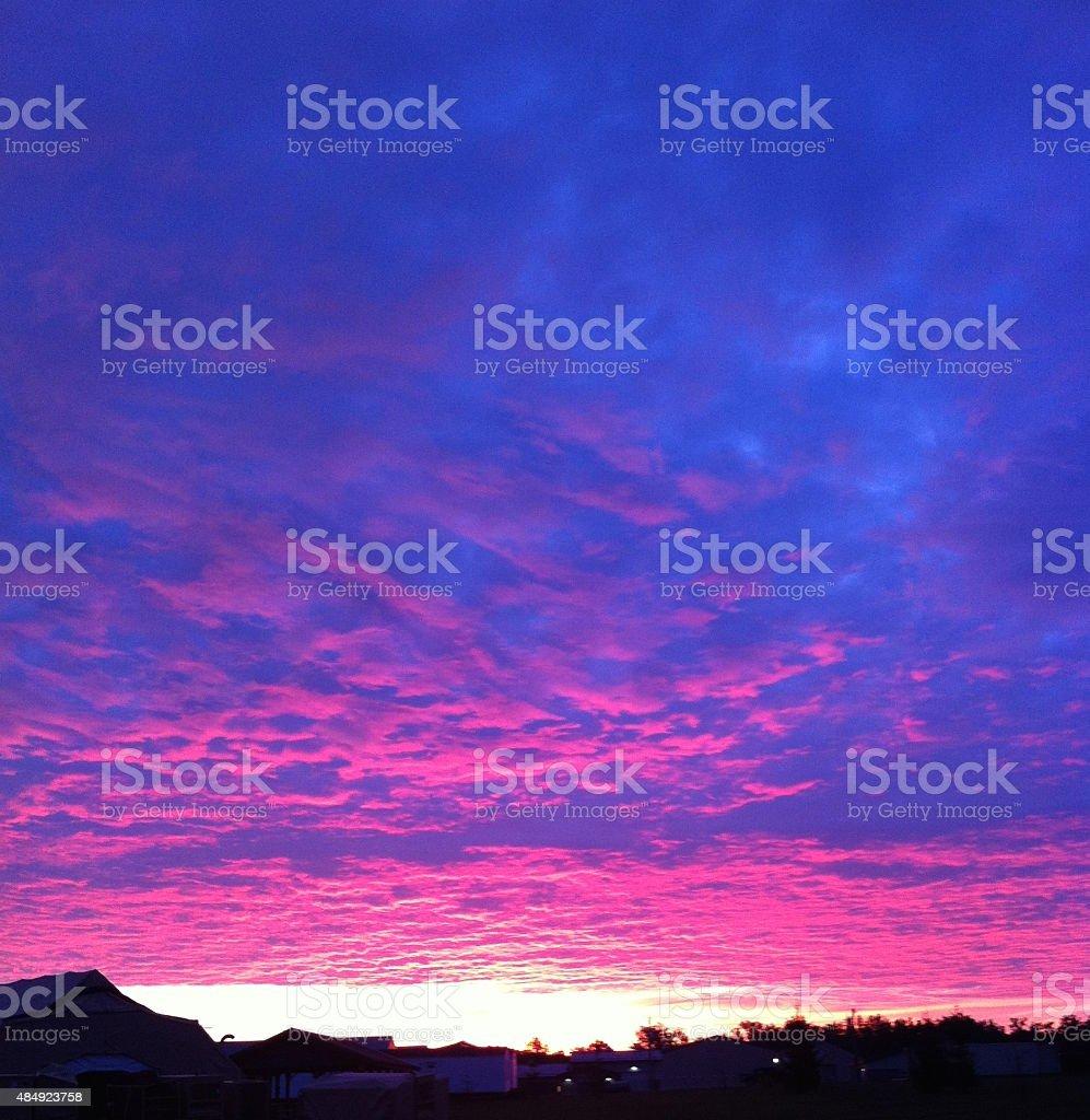 Pink blue ski stock photo