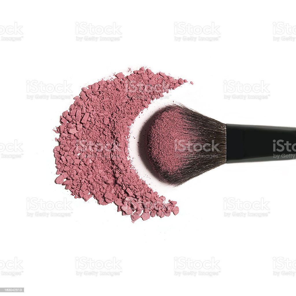 Pink Blush Brush stock photo