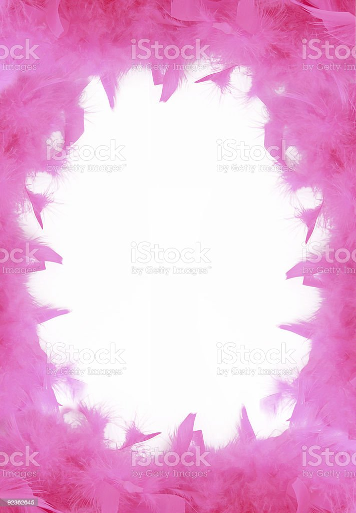 pink boa border royalty-free stock photo