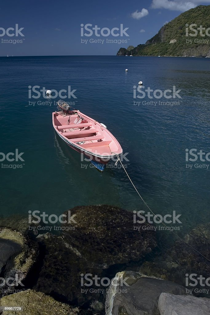 Pink Boat royalty-free stock photo