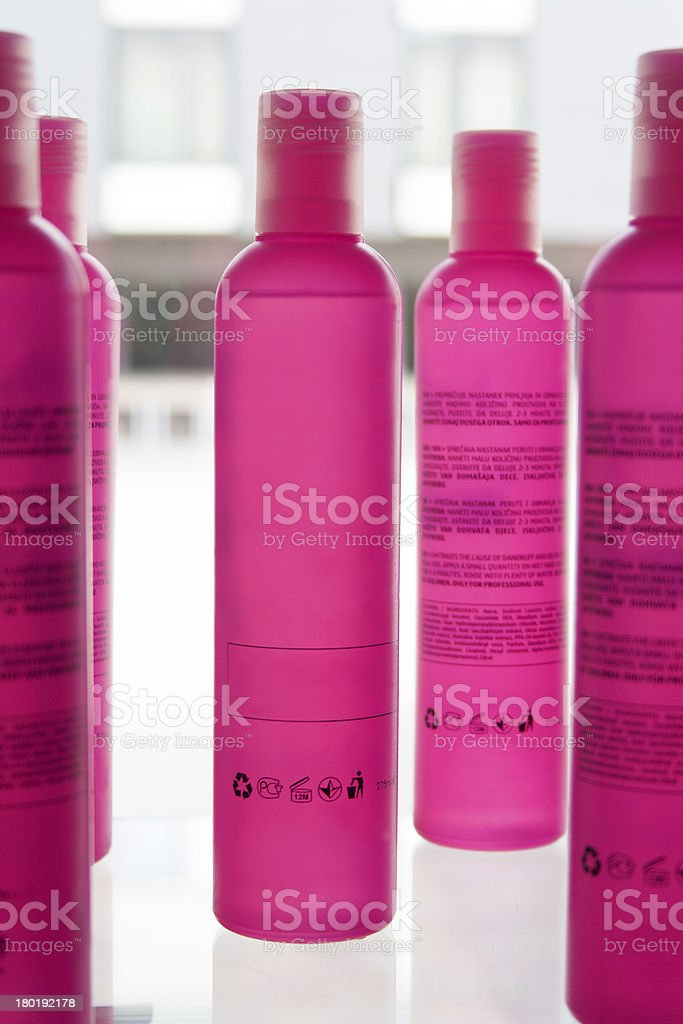 Pink bottles royalty-free stock photo