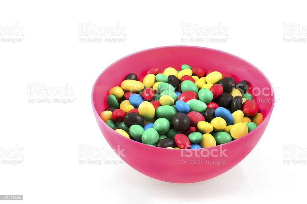 Rose bowl, avec des bols Bonbon au chocolat photo libre de droits