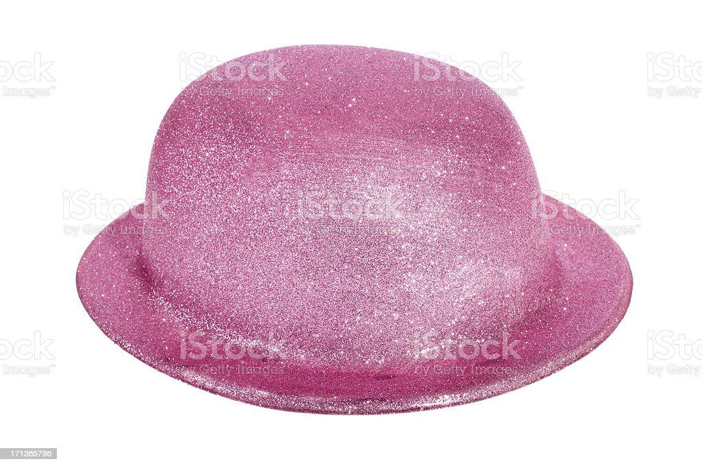 Pink bowler royalty-free stock photo