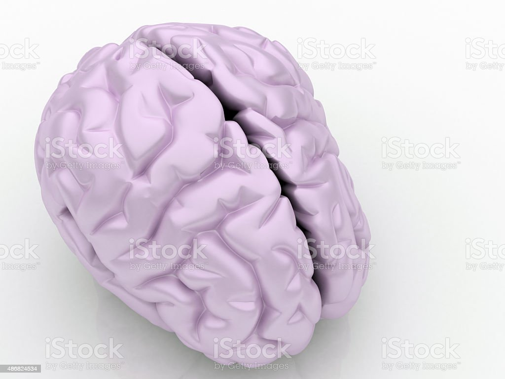 Pink Brain stock photo