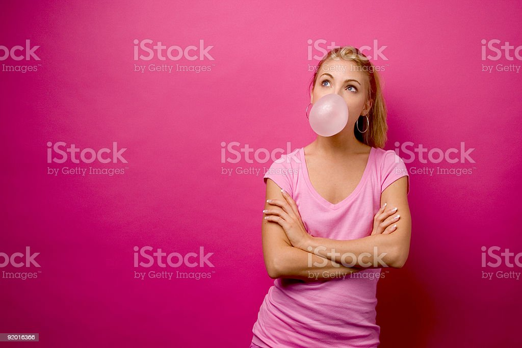 Pink Bubble - Horizontal stock photo