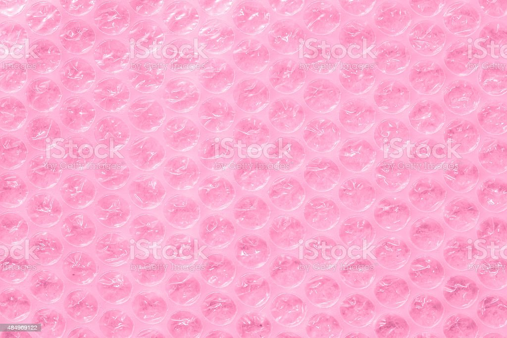 pink bubble wrap or packing material stock photo