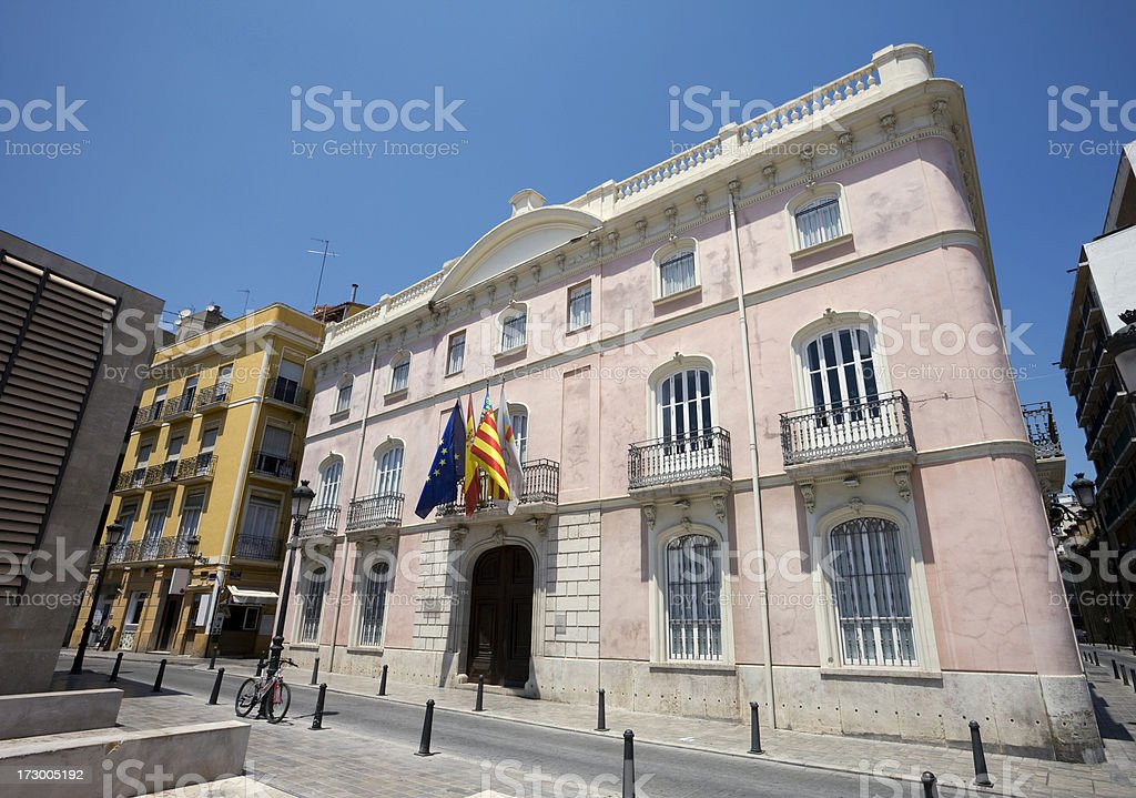 Pink Building in Valencia royalty-free stock photo