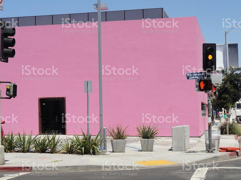 Pink Building Melrose Av  Los Angeles, CA stock photo