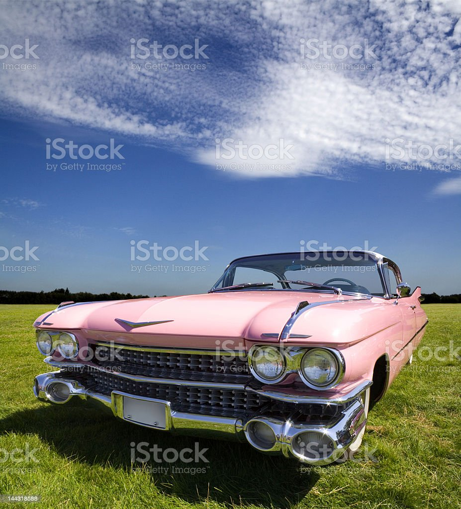Pink Caddillac stock photo