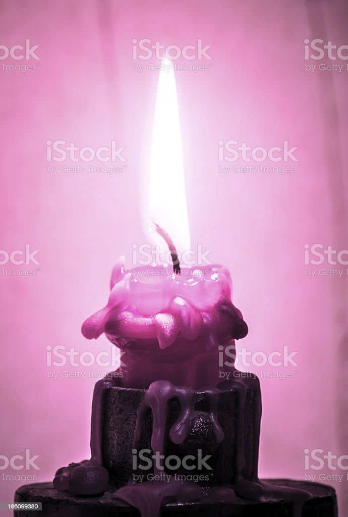 pink candle stock photo