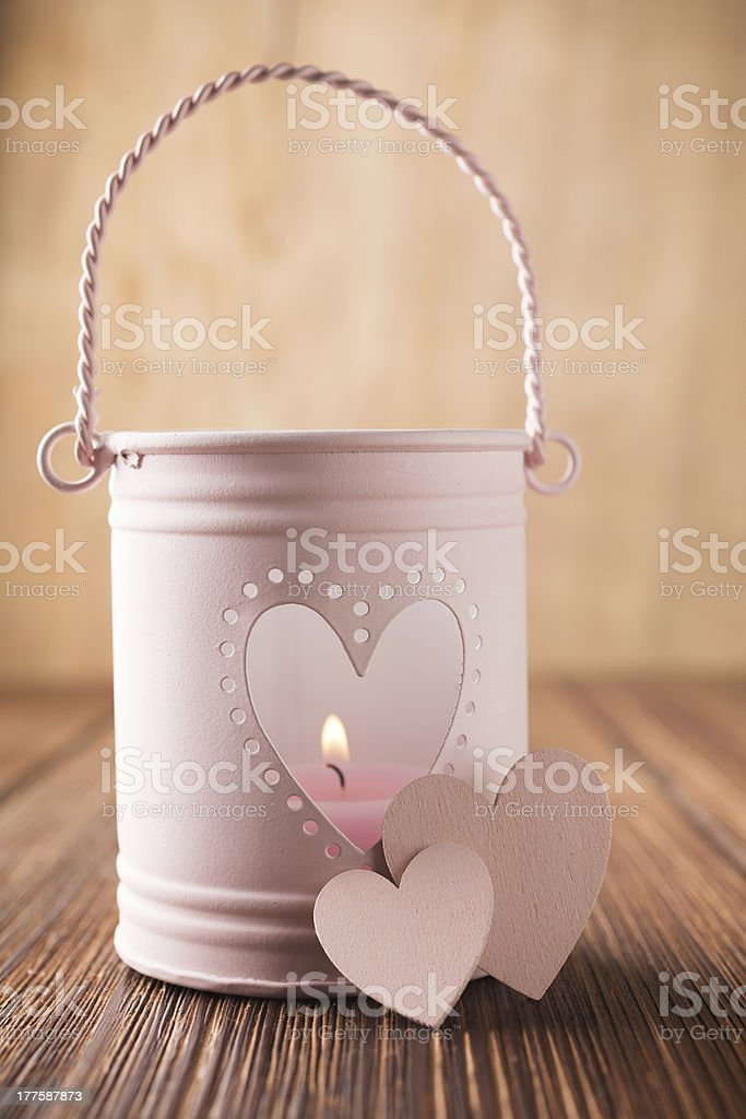 Pink candlestick. royalty-free stock photo