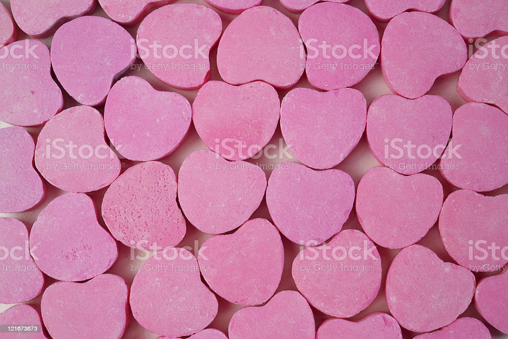 pink candy hearts 2 royalty-free stock photo