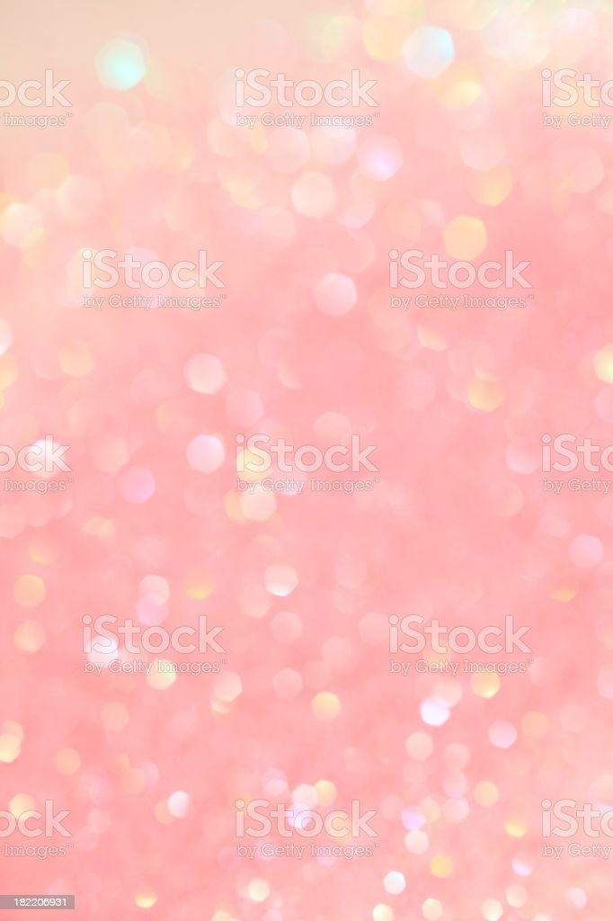 Pink Champagne Bubbles stock photo