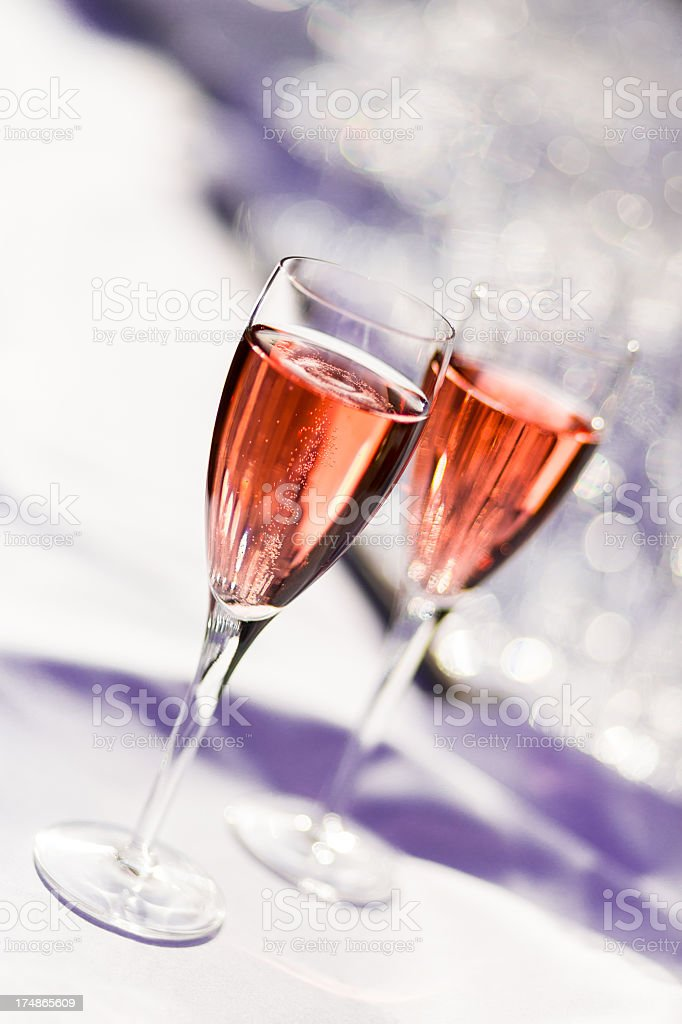 Pink champagne stock photo