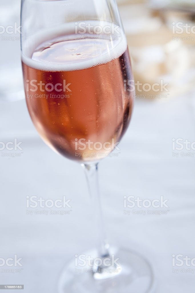 Pink champagne royalty-free stock photo