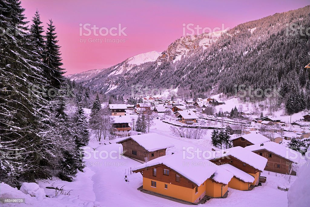 Pink Chatel stock photo