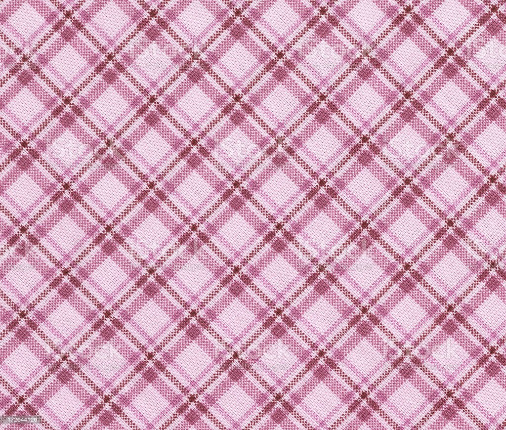 pink checked fabric royalty-free stock photo