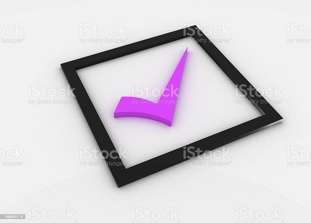 pink checkmark royalty-free stock photo