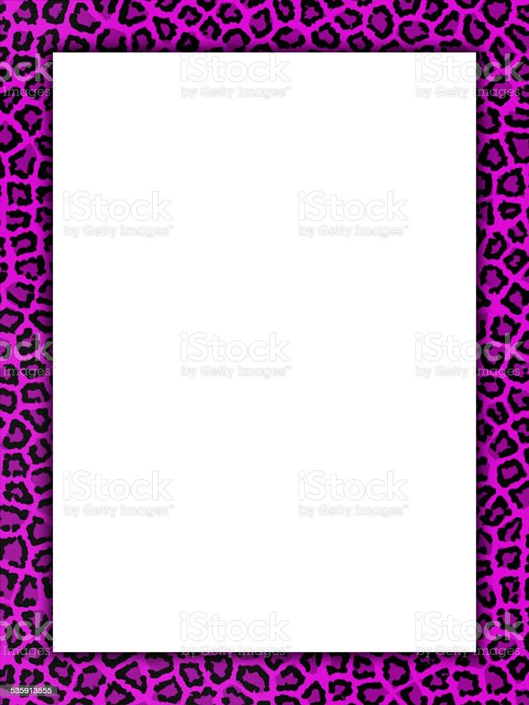 Pink cheetah print border stock photo