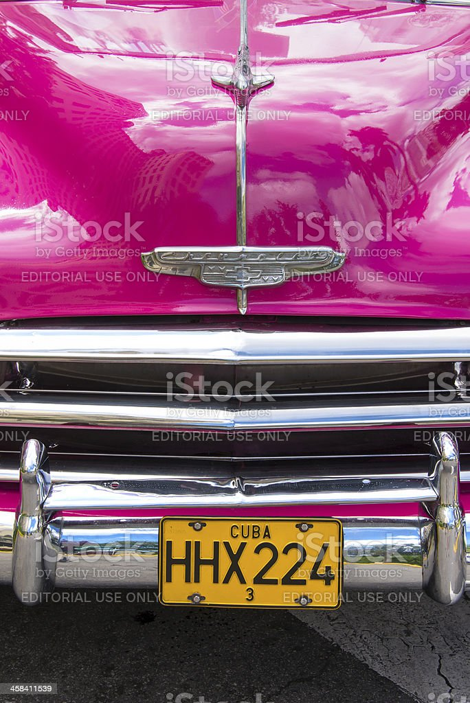 Pink Chevrolet royalty-free stock photo