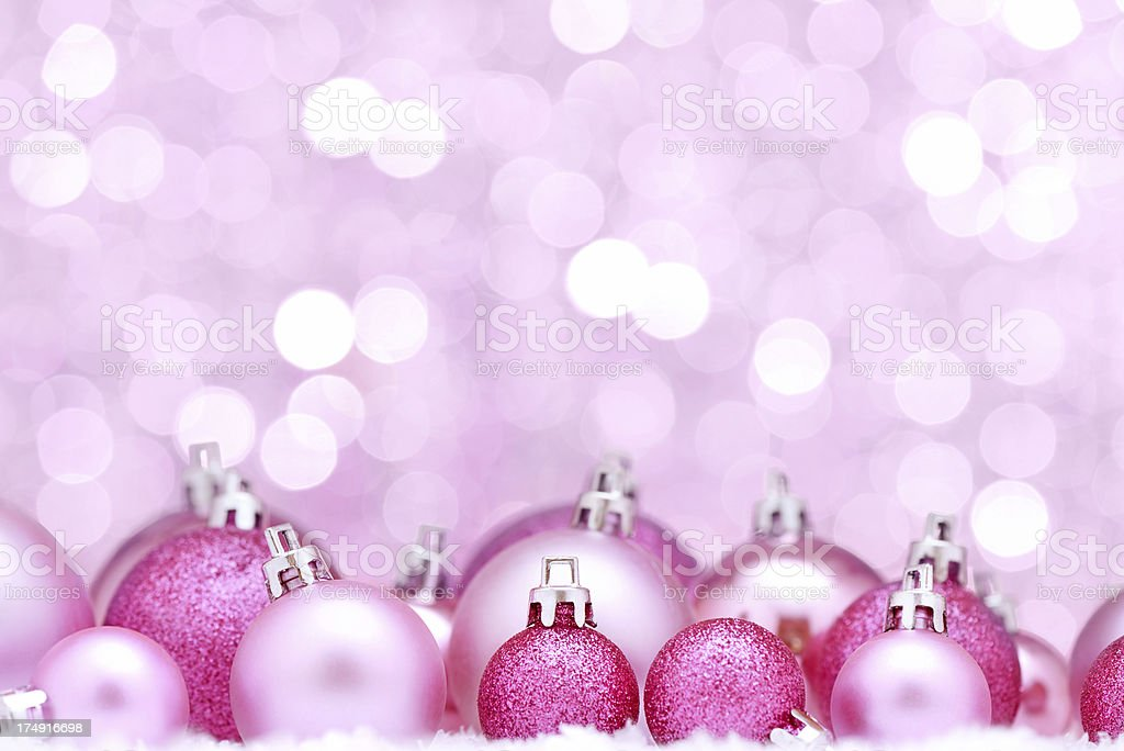 Pink christmas balls royalty-free stock photo