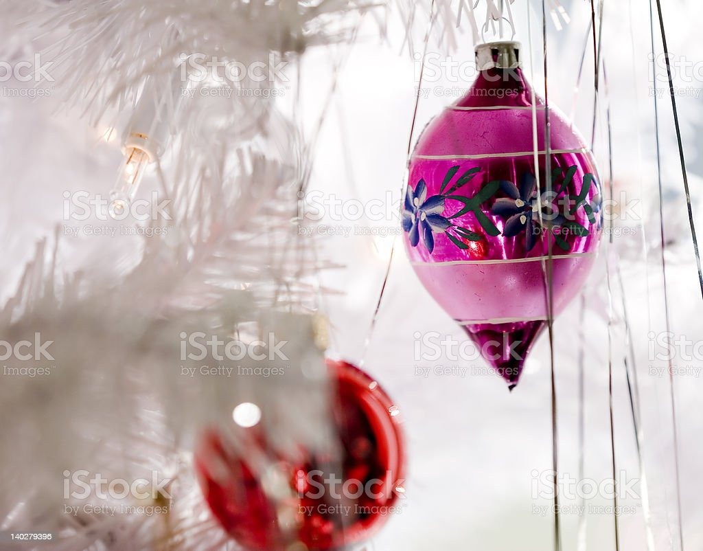 Pink Christmas Ornament royalty-free stock photo