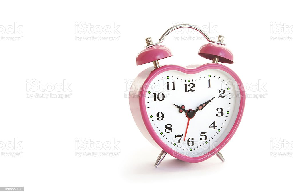 pink clock royalty-free stock photo
