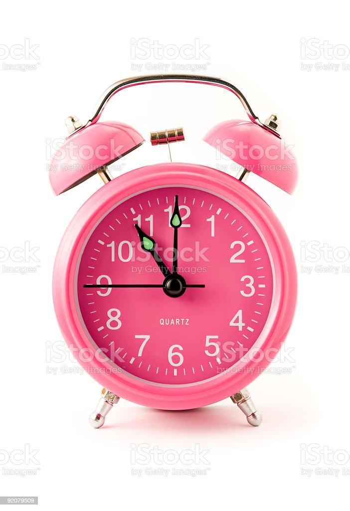 Pink clock royalty-free stock photo