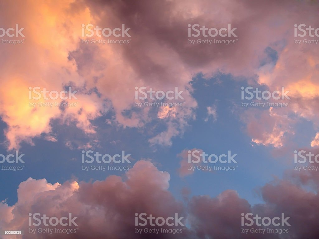 Pink Clouds after Rain royalty-free stock photo