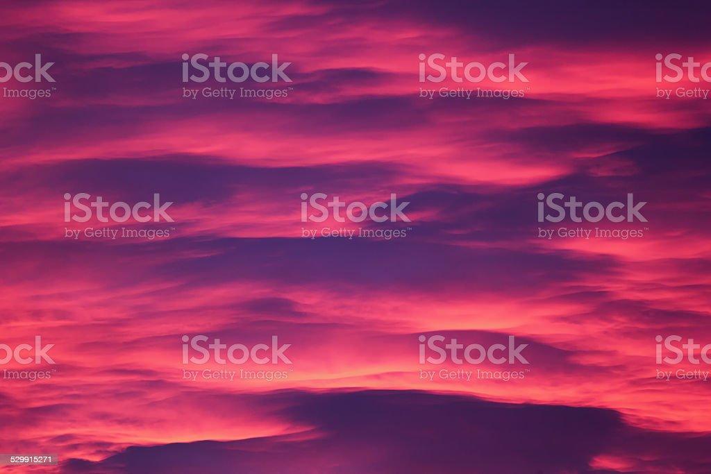 Pink Cloudscape stock photo