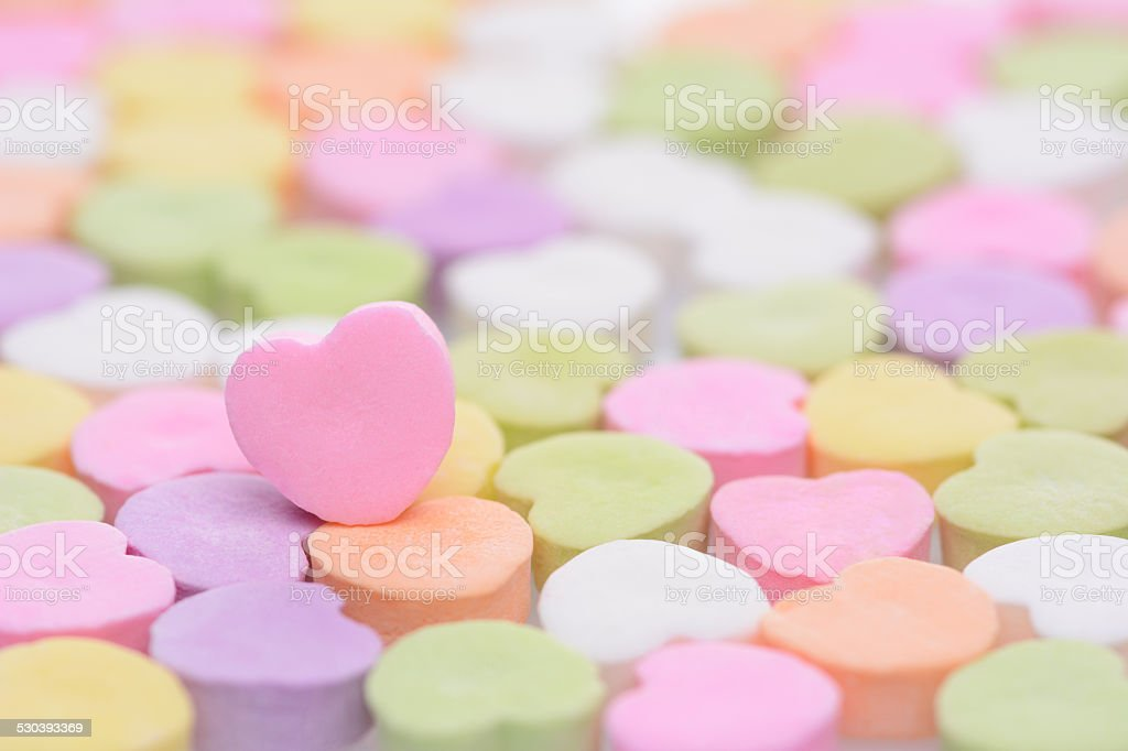 Pink Cndy Heart stock photo