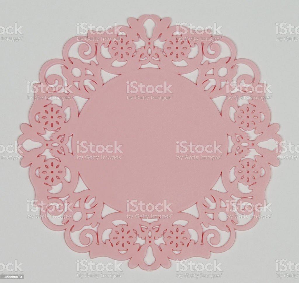 pink coaster royalty-free stock photo